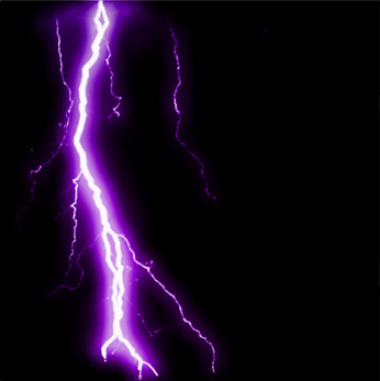 Abstract purple lightning flash background. Vector